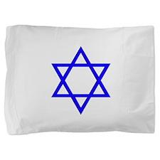 Blue Star of David Pillow Sham