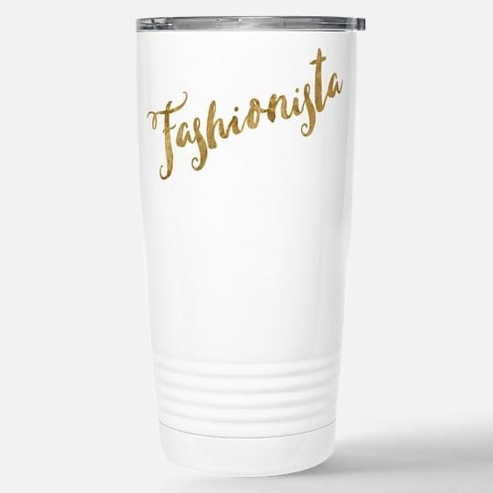 Golden Look Fashionista Travel Mug