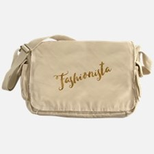 Golden Look Fashionista Messenger Bag