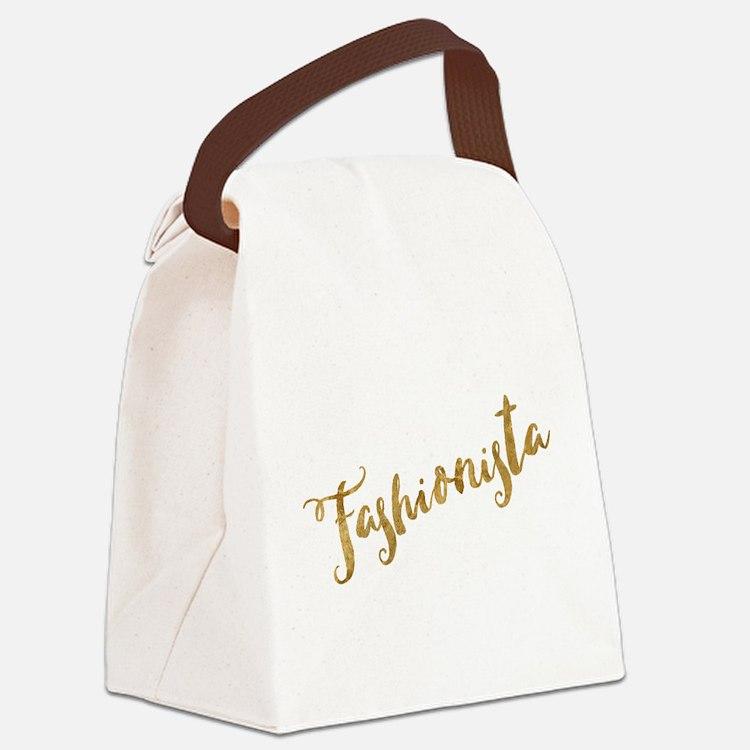 Golden Look Fashionista Canvas Lunch Bag