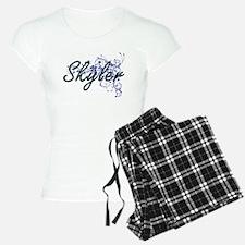 Skyler Artistic Name Design Pajamas