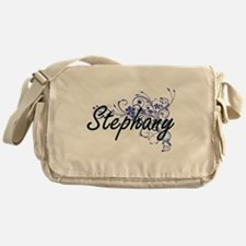 Stephany Artistic Name Design with F Messenger Bag