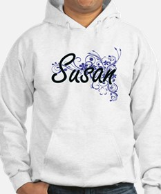 Susan Artistic Name Design with Hoodie Sweatshirt