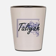 Taliyah Artistic Name Design with Flowe Shot Glass