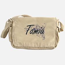 Tamia Artistic Name Design with Flow Messenger Bag