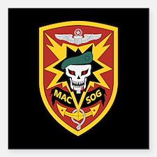 "MAC V SOG Square Car Magnet 3"" x 3"""