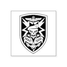 """MAC V SOG (BW) Square Sticker 3"""" x 3"""""""