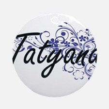 Tatyana Artistic Name Design with F Round Ornament