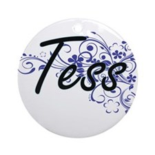 Tess Artistic Name Design with Flow Round Ornament