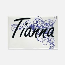 Tianna Artistic Name Design with Flowers Magnets