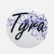 Tyra Artistic Name Design with Flow Round Ornament
