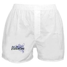 Valentina Artistic Name Design with F Boxer Shorts