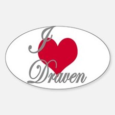 I love (heart) Draven Sticker (Oval)