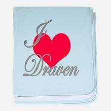 I love (heart) Draven baby blanket