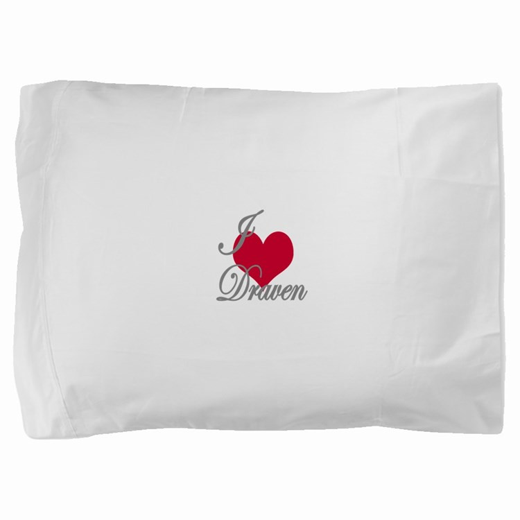 I love (heart) Draven Pillow Sham