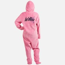 Willow Artistic Name Design with Fl Footed Pajamas