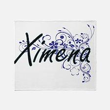Ximena Artistic Name Design with Flo Throw Blanket