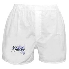 Ximena Artistic Name Design with Flow Boxer Shorts