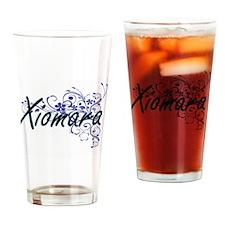 Xiomara Artistic Name Design with F Drinking Glass