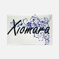 Xiomara Artistic Name Design with Flowers Magnets