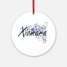 Xiomara Artistic Name Design with F Round Ornament