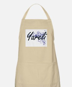 Yareli Artistic Name Design with Flowers Apron