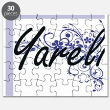 Yareli Artistic Name Design with Flowers Puzzle