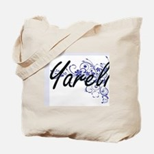 Yareli Artistic Name Design with Flowers Tote Bag