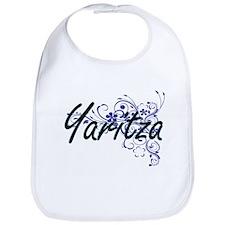 Yaritza Artistic Name Design with Flowers Bib