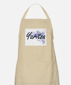 Yaritza Artistic Name Design with Flowers Apron