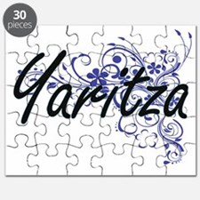 Yaritza Artistic Name Design with Flowers Puzzle