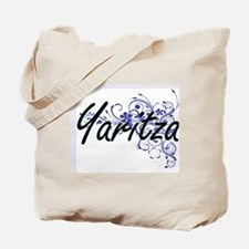 Yaritza Artistic Name Design with Flowers Tote Bag