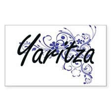 Yaritza Artistic Name Design with Flowers Decal