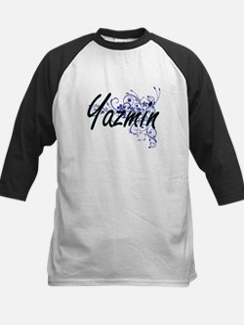 Yazmin Artistic Name Design with F Baseball Jersey