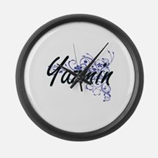 Yazmin Artistic Name Design with Large Wall Clock