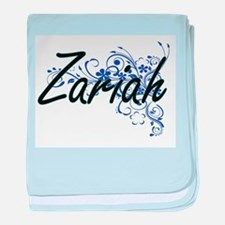 Zariah Artistic Name Design with Flow baby blanket