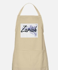 Zariah Artistic Name Design with Flowers Apron
