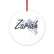 Zariah Artistic Name Design with Fl Round Ornament