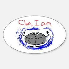 Clam, I am Oval Decal