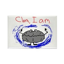 Clam, I am Rectangle Magnet (10 pack)