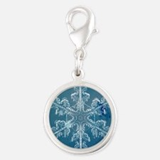 Blue Watercolor Snowflake Charms