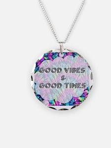 Funny Tye dye peace hippie Necklace