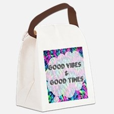 Unique Tye dye peace hippie Canvas Lunch Bag