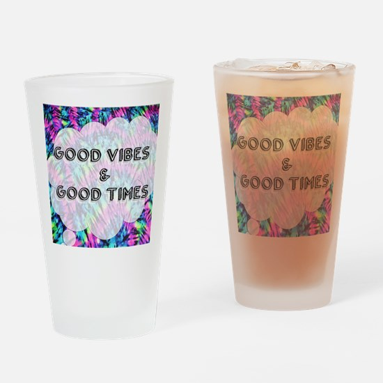 Cute Tye dye Drinking Glass