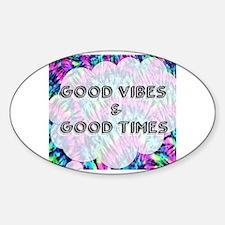 Cute Tye dye peace hippie Sticker (Oval)