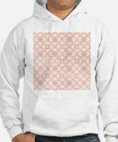 Pink and Cream Floral Damask Hoodie