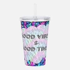 Good Vibes & Good Time Acrylic Double-wall Tumbler