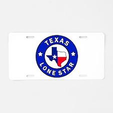 Texas Lone Star Aluminum License Plate