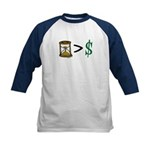 Time Greater Money Kids Baseball Jersey