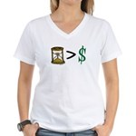 Time Greater Money Women's V-Neck T-Shirt